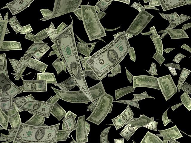 peníze z nebe